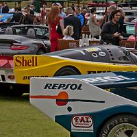 Porsche tails, #16 Porsche 962C and #19 Porsche 962C at Salon Privé Syon Park, London, UK, on 24 June 2011