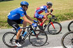 Anton Vorobyev (RUS) of Gazprom-Rusvelo, Gorazd Per (SLO) of KK Adria Mobil during Stage 2 of 24th Tour of Slovenia 2017 / Tour de Slovenie from Ljubljana to Ljubljana (169,9 km) cycling race on June 16, 2017 in Slovenia. Photo by Vid Ponikvar / Sportida