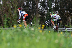 Joëlle Numainville (Cervélo Bigla) and Jessica Allen (Australia) - Emakumeen Bira 2016 Stage 4 - A 76 km road stage starting and finishing in Portugalete, Spain on 17th April 2016.
