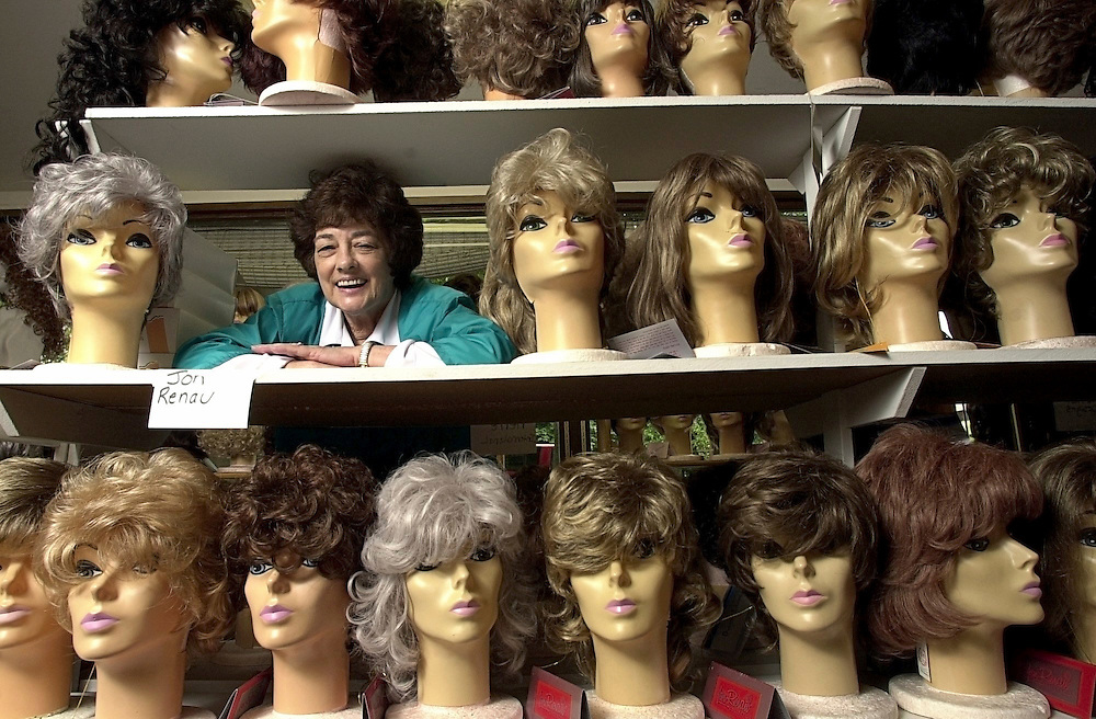 Kay Staab, owner of Kay's World of Wigs, photographed in her store.