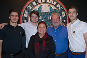 KELOWNA, CANADA - JANUARY 21:  Maria & Gordon Ridgewell with players at the Kelowna Rockets Billet Dinner on January 21, 2018 at Prospera Place in Kelowna, British Columbia, Canada.  (Photo By Cindy Rogers/Nyasa Photography,  *** Local Caption ***
