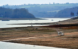 &copy; Licensed to London News Pictures.08/01/2018<br /> BEWL WATER, UK.<br /> Southern water seeks drought permit to top up Bewl Water reservoir due to low rainfall in the winter of 2016-17.<br />  The reservoir near Lamberhurst in Kent supplies water to homes across Kent and East Sussex. <br /> Photo credit: Grant Falvey/LNP