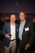 Ken Huesby (left) and Ken Birdsall of Hillhouse Commercial Construction pose for a photo during the Silicon Valley Business Journal's Annual Silicon Valley Structures Awards event at the Fairmont San Jose in San Jose, California, on September 21, 2017. (Stan Olszewski for Silicon Valley Business Journal)