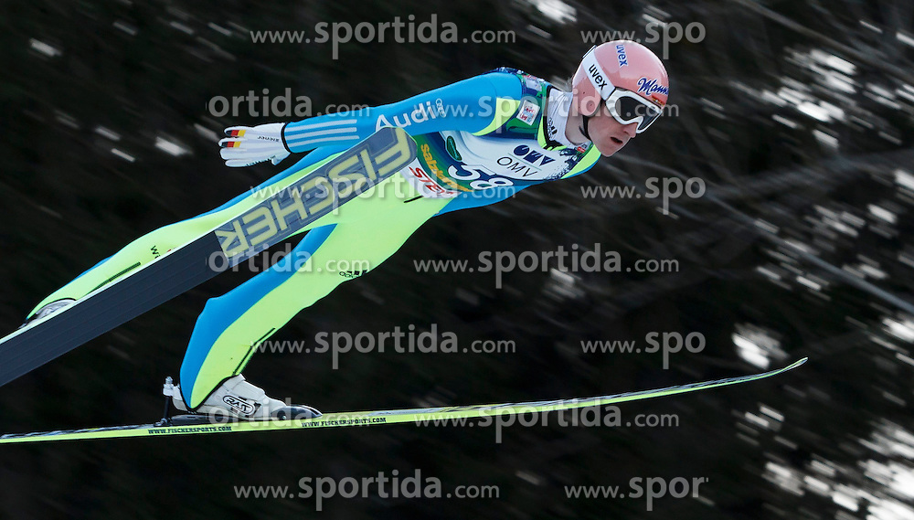 12.01.2014, Kulm, Bad Mitterndorf, AUT, FIS Ski Flug Weltcup, Erster Durchgang, im Bild Severin Freund (GER) // Severin Freund (GER) during the first round of FIS Ski Flying World Cup at the Kulm, Bad Mitterndorf, .Austria on 2014/01/12, EXPA Pictures © 2013, PhotoCredit: EXPA/ Erwin Scheriau