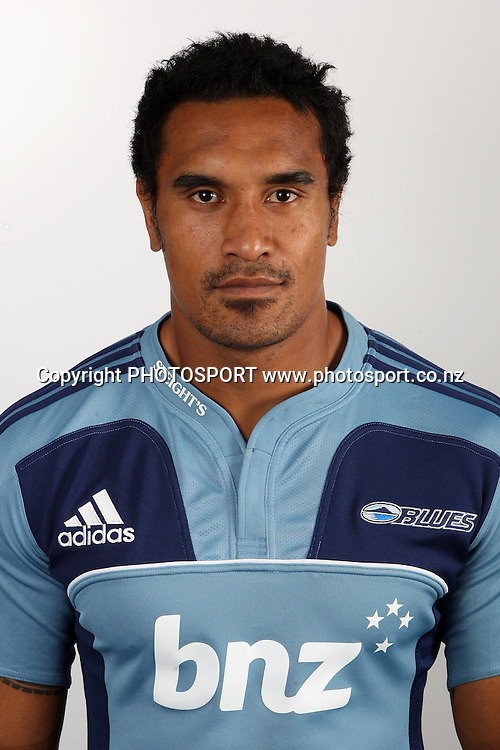 Jerome Kaino. Blues Headshots, Investec Super Rugby, Auckland, 7 February 2011. Photo: William Booth/photosport.co.nz
