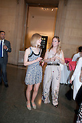 LILY JOHNSON; SOPHIE BENJAMIN, Tate Summer Party. Celebrating the opening of the  Fiona Banner. Harrier and Jaguar. Tate Britain. Annual Duveens Commission 29 June 2010. -DO NOT ARCHIVE-© Copyright Photograph by Dafydd Jones. 248 Clapham Rd. London SW9 0PZ. Tel 0207 820 0771. www.dafjones.com.