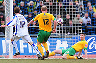 Brighton - Saturday 13th February, 2010:  Michael Nelson of Norwich City clears a shot from the line during the Coca Cola League One match at The Withdean, Brighton...(Pic by Alex Broadway/Focus Images)