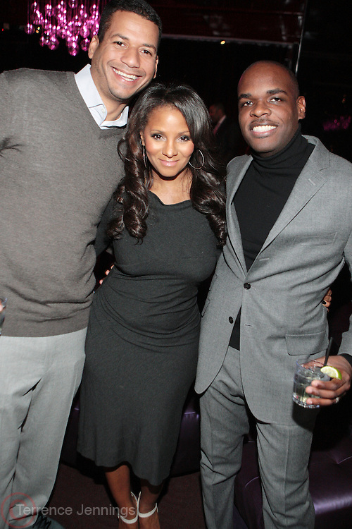 7 March 2011- New York, NY- Jamal Muderline, Marvet britto, and Jermaine Hall at the Power of Urban Presentation and Reception hosted by Magic Johnson and Yucaipa and held at the Empire Penthouse on March 7, 2011 in New York City. Photo Credit: Terrence Jennings/Photo Credit: Terrence Jennings for Uptown Magazine