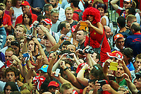Fans in the pit lane.<br /> Italian Grand Prix, Thursday 4th September 2014. Monza Italy.