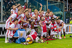 15-05-2019 NED: De Graafschap - Ajax, Doetinchem<br /> Round 34 / It wasn't really exciting anymore, but after the match against De Graafschap (1-4) it is official: Ajax is champion of the Netherlands / Ajax champion team photo