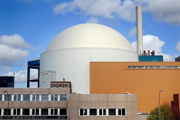 Nederland, Borsele, 15-4-2008Het bolle omhulsel van het nucleaire deel van de kerncentrale van de EPZ , een vorm van energieopwekking die weer in discussie is.Foto: Flip Franssen/Hollandse Hoogte