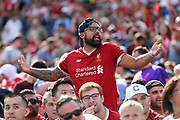 Liverpool fans complains to a steward during the Manchester United and Liverpool International Champions Cup match at the Michigan Stadium, Ann Arbor, United States on 28 July 2018.