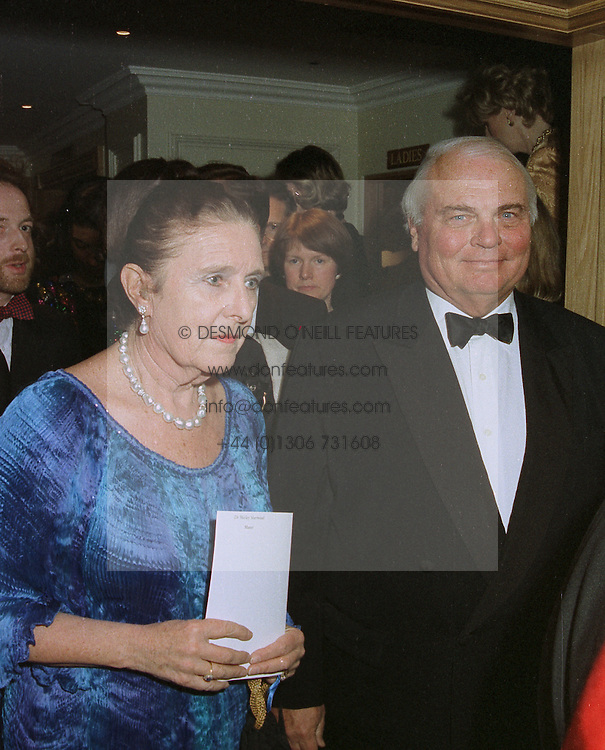 DR SHIRLEY SHERWOOD and MR JAMES SHERWOOD founder and president of the Sea Containers Group,  at a dinner in London on April 14th 1997.LXO 52