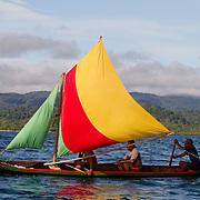 Sailboat. San Blas, Panama