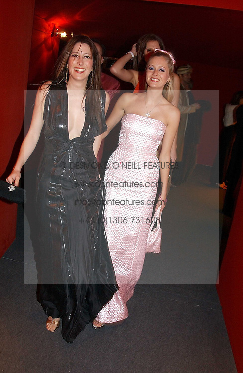 "Left to right, PRINCESS TAMARA CZARTORYSKI-BOURBON and MISS ANOUSHKA DE GEORGIOU at the 10th annual British Red Cross London Ball.  This years ball theme was Indian based - ""Yaksha - Yakshi: Doorkeepers to the Divine"" and was held at The Room, Upper Ground, London on 1st December 2004.  Proceeds from the ball will aid vital humanitarian work, including HIV/AIDS projects that the Red Cross supports in the UK and overseas.<br />