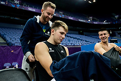 Tomaz Ursic, Luka Doncic of Slovenia and Matic Rebec of Slovenia at training session during of the FIBA EuroBasket 2017 at Hartwall Arena in Helsinki, Finland on September 4, 2017. Photo by Vid Ponikvar / Sportida