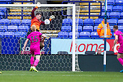Bolton Wanderers Keeper makes a save during the EFL Sky Bet League 1 match between Bolton Wanderers and Rochdale at the University of  Bolton Stadium, Bolton, England on 19 October 2019.