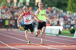 Relay Team, RUS, 4x100m, T11-13, 2013 IPC Athletics World Championships, Lyon, France