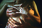 Erotic scenes are being played on a TV screen at Amora, the Academy of Sex and Relationships, on Tuesday, April 17, 2007, in London, UK. The world's first visitor attraction dedicated to love, sexon Tuesday, April 17, 2007, in London, UK. The world's first visitor attraction dedicated to love, sex and relationships opens its door officially tomorrow (18th of April 2007) in Piccadilly. The permanent interactive attraction, Amora, expects to draw over half a million, 18+ visitors in the first year and fuses entertainment, excitement and education in a unique powerful sensory experience. With seven zones covering every aspect of relationships from first filtrations and dating to fantasy and fetish. Visitors can explore the science of attraction - what they find attractive and why, learn how to enhance their skills and even create what their perfect partner might look like. Male and female models help demystify erogenous zones, G-spot and prostate, while insights and technique tips are offered on various topics. Sexual awareness and well-being are also covered thoroughly. **Italy Out**..