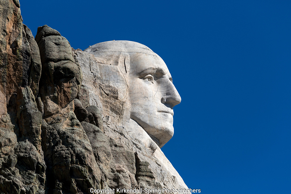 SD00032-00...SOUTH DAKOTA - Presedent Georg Washington carved on a mountain side in Mount Rushmore National Memorial.
