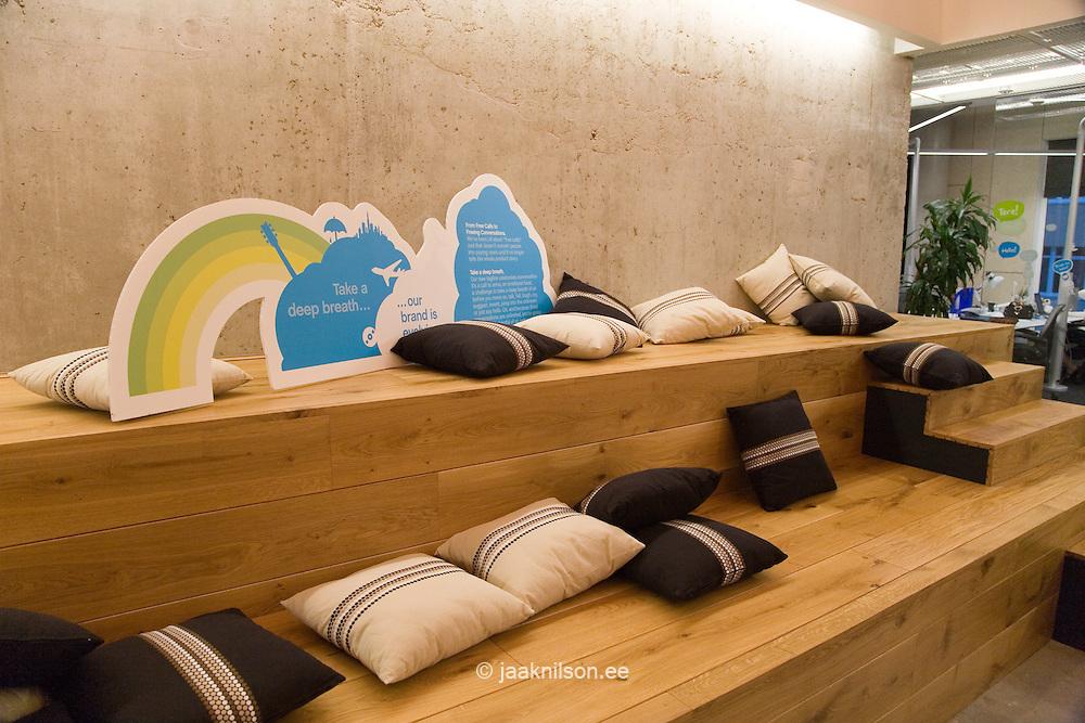 Rest Area in Modern Skype Office, Tallinn, Estonia
