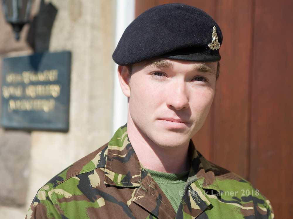 Picture shows portrait of Lance Bombardier Niall Kelly, 22, of 104 Regiment Royal Artillery (Volunteers). L/Bdr Kellly, from Rogerstone, recently returned from Afghanistan, Herrick 13), he next month starts a course to become an Army Phyisical Training Instructor. Currently unemployed he gopes to work as a personal trainer. He has served in the Territorial Army for 4 years.12th May 2012..Picture by Trooper Mark Larner, W Sqn RY...SOLDIERS from 104 Regiment Royal Artillery (Volunteers) hosted a Territorial Army Employers Challenge Day, today Saturday, May 12, 2012, at Raglan Barracks, Newport. .The aim of the day was to increase the employers awareness of the Territorial Army (TA) and its functions in the local community by providing a number of mentally and physically demanding challenges in a military environment..The exercise was sponsored by 104 Regt RA with the full support of SaBRE Wales and involved participants from various companies in South Wales. The event focused on the employers of TA soldiers rather than the soldiers themselves, with the day being run by TA soldiers and designed to highlight the benefits of command, leadership, ethos and team spirit that is gained by being a member of the TA. .Participants were organised in to teams of six to eight and will navigate around nine stands within Raglan Barracks, ranging from command tasks to information stands with teams being scored on their performance with the winning teams to be awarded prizes..The day was also being used to focus recruiting, in particular, for potential officers and soldiers for 104 Regt RA and Army Cadet Force volunteers..For more information contact:..MEDIA OPERATIONS                                                       Swyddfar Wasg.Headquarters 160 (Wales) Brigade.      Pencadlys Brigâd 160 (Cymru)..The Barracks, Brecon                                                Y Barics, Aberhonddu.Powys LD3 7EA...                                          Powys LD3 7EA.Tel/Ffôn:  01874 6134