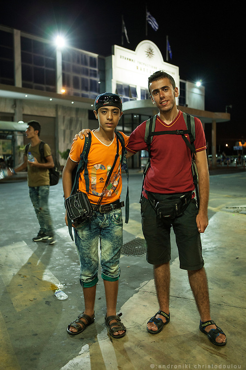 Muhammad (14, on the left) and Muhammad (18, on the right) are refugees from Syria. They met in Izmir and decided to continue travelling together. They both left their families behind because there wasn&rsquo;t enough money for everyone to travel. The youngest one comes from Aleppo and his family has a small mini market. His parents are originally from Palestine and they went to Syria as refugees. Muhammad is now a second generation refugee, this time from Syria to Europe. He has been travelling for a month before he reached Thessaloniki. The older Muhammad is from Edlib and his family has a real estate business. He has been travelling for one month and twenty days. <br />