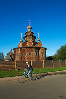 Russie, Souzdal (Suzdal), classé Patrimoine Mondial par UNESCO, ancien centre culturel et religieux faisant partie de l'Anneau d'Or, Musée de l'architecture en bois, église du XIXe siècle // Russia, Rossiya, Vladimir Oblast, Golden Ring, Suzdal, Unesco world heritage, museum of wooden architecture, 19 century church