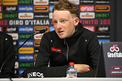 Foto Filippo Rubin/LaPresse <br /> 09 maggio 2019 Bologna (Italia)<br /> Sport Ciclismo<br /> Giro d'Italia 2019 - edizione 102 - Conferenza Stampa Team.<br /> Nella foto: Team Ineos. GEOGHEGAN HART Tao<br /> <br /> Photo Filippo Rubin/LaPresse<br /> May 09, 2019  Bologna (Italy)  <br /> Sport Cycling<br /> Giro d'Italia 2019 - 102th edition - Team Press Conference .<br /> In the pic: Team Ineos. GEOGHEGAN HART Tao