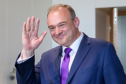 © Licensed to London News Pictures. 30/05/2019. London, UK. Ed Davey, MP for the Kingston and Surbiton and former Secretary of State for Energy and Climate Change arrives in South Bank to launch his leadership campaign to become the leader of the Liberal Democrat party. The current leader, Vince Cable will step down as Liberal Democrat leader on 23 July 2019. Photo credit: Dinendra Haria/LNP