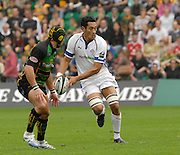 Northampton, GREAT BRITAIN, Baths, Jonny TAAMATUAINU, looks to pass the ball during the  Northampton Saints vs Bath Rugby,  Guinness Premiership Rugby match, at  Franklin's Gardens, Northampton, ENGLAND on 16/09/2006 [Photo, Peter Spurrier/Intersport-images].