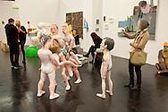 Europe, Germany, Cologne, the art exhibition Art Cologne at the exhibition centre in the town district Deutz, group of sculptures by Barna Peli.<br /> <br /> Europa, Deutschland, Koeln, Kunstmesse Art Cologne in den Deutzer Messehallen, Skulpturengruppe von Barna Peli. ***HINWEIS ZU DEN ABGEBILDETEN KUNSTWERKEN - RECHTE DRITTER SIND VOM NUTZER ZU KLAEREN*** ***PLEASE NOTE: THIRD PARTY RIGHTS OF THE SHOWN WORK OF ART MUST BE CHECKED BY THE USER***