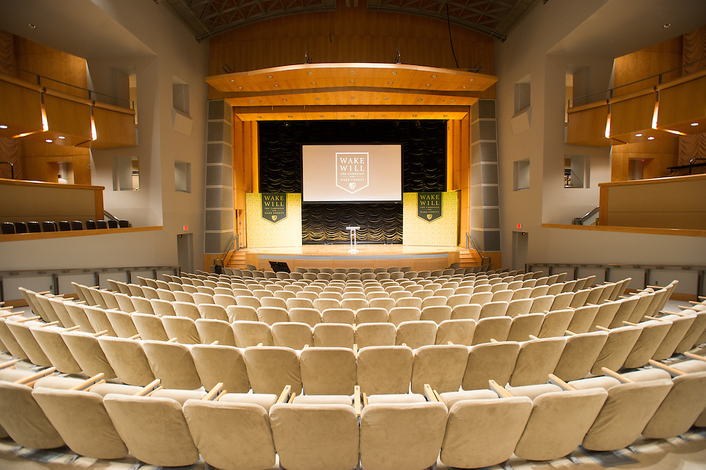 Empty theater at Wake Forest University in Washington DC