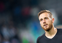 Jan Oblak of Slovenia after winning during football match between National teams of Slovenia and Slovakia in Round #2 of FIFA World Cup Russia 2018 qualifications in Group F, on October 8, 2016 in SRC Stozice, Ljubljana, Slovenia. Photo by Vid Ponikvar / Sportida