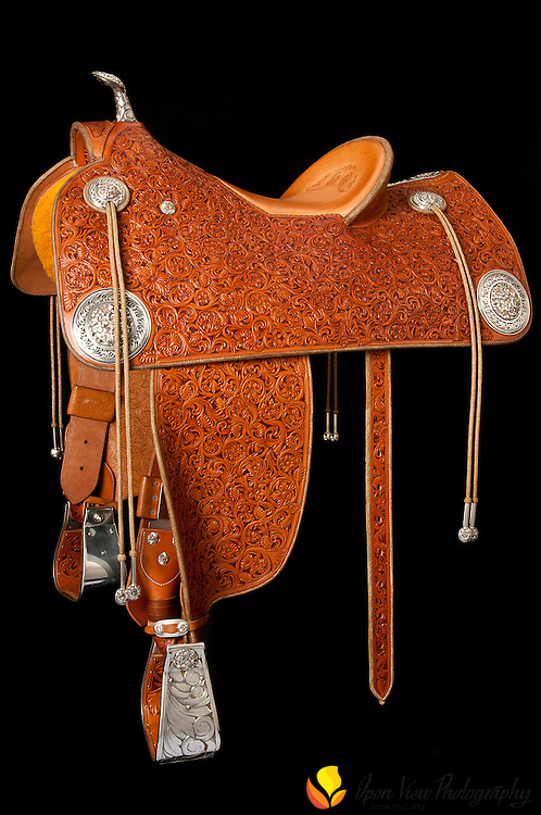 Cary Schwarz custom saddle