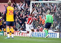 Fotball<br /> England<br /> Foto: Fotosports/Digitalsport<br /> NORWAY ONLY<br /> <br /> Btritannia Stadium Stoke city v Arsenal  Premier League 01/11/2008<br /> Ricardo Fuller (Stoke) celebrates first goal