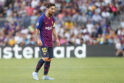 September 18, 2018 - Barcelona, Spain - FC Barcelona forward Lionel Messi (10) during the UEFA Champions League match between FC Barcelona and PSV Eindhoven at Camp Nou Stadium corresponding of matchday 1, group B on September 18, 2018 in Barcelona, Spain. (Credit Image: © Urbanandsport/NurPhoto/ZUMA Press)