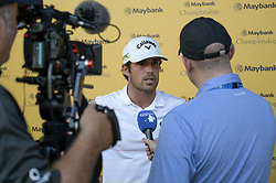 March 22, 2019 - Kuala Lumpur, Malaysia - Nacho Elvira of Spain takes an interview on Day Two of the Maybank Championship at Saujana Golf and Country Club on March 22, 2019 in Kuala Lumpur, Malaysia. (Credit Image: © Chris Jung/NurPhoto via ZUMA Press)