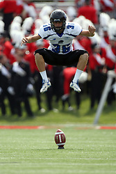 15 September 2012:  Kicker Taylor Kerr during an NCAA football game between the Eastern Illinois Panthers and the Illinois State Redbirds at Hancock Stadium in Normal IL