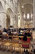 DEU, Germany, Cologne, mass in the romanesque church Gross St. Martin.....DEU, Deutschland, Koeln, Gottesdienst in der romanischen Kirche Gross St. Martin....... ..