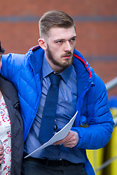 "© Licensed to London News Pictures. 01/02/2018. Liverpool UK. Tom Evans father of Alfie Evans arrives at Liverpool Civil & Family Court this morning with his mother. Tom Evans and Kate James from Liverpool are in dispute with medics looking after their son 19-month-old son Alfie Evans, at Alder Hey Children's Hospital in Liverpool. Alfie is in a ""semi-vegetative state"" and had a degenerative neurological condition doctors have not definitively diagnosed. Specialists at Alder Hey say continuing life-support treatment is not in Alfie's best interests but the boy's parents want permission to fly their son to a hospital in Rome for possible diagnosis and treatment.Photo credit: London News Pictures"
