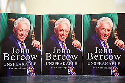 © Licensed to London News Pictures. 07/02/2020. London, UK. Former Speaker of the House of Commons, John Bercow's autobiography titled 'Unspeakable' on display at Waterstones in central London. Photo credit: Dinendra Haria/LNP