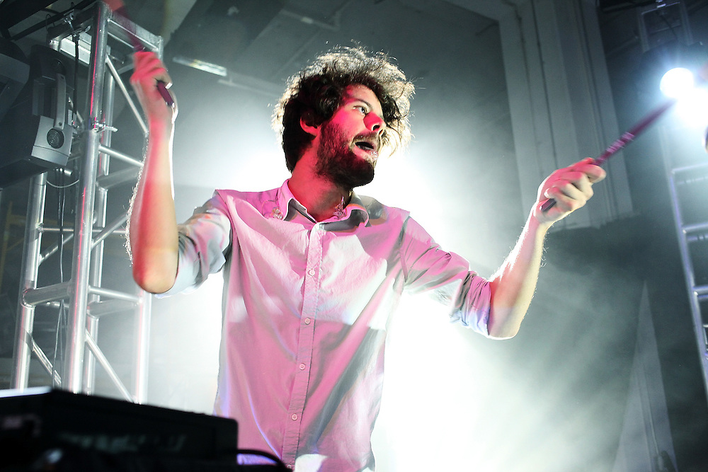 NEW YORK - MAY 14:  Michael Angelakos of Passion Pit performs onstage at the Classic Car Club on May 14, 2010 in New York City.  (Photo by Roger Kisby/Getty Images)