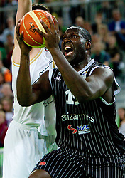 Nathan Jawai  of Partizan during final match of Basketball NLB League at Final four tournament between KK Union Olimpija (SLO) and Partizan Belgrade (SRB), on April 21, 2011 in Arena Stozice, Ljubljana, Slovenia.  (Photo By Vid Ponikvar / Sportida.com)