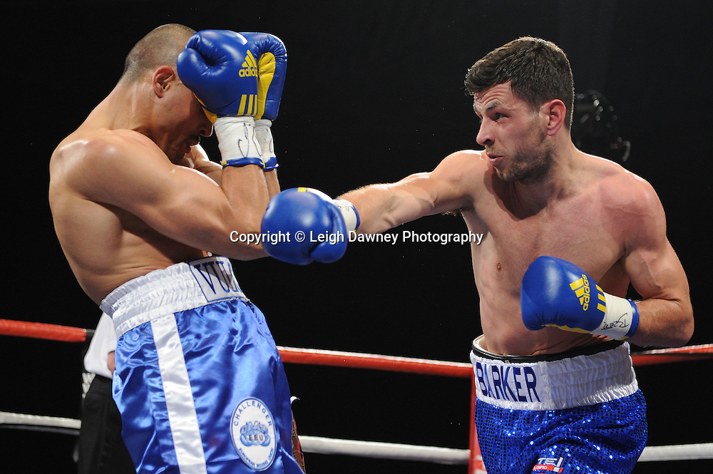 Darren Barker defeats Domenico Spada at London's Olympia on Saturday 30th April 2011 for the European Middleweight Championship. Matchroom Sport. Photo credit © Leigh Dawney.