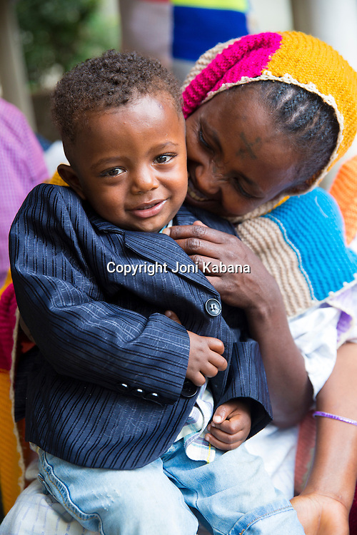 A Hamlin Fistula Hospital patient and her son