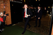 Middlesbrough players arrives ahead of the EFL Sky Bet Championship match between Fulham and Middlesbrough at Craven Cottage, London, England on 17 January 2020.