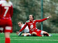 Fotball<br /> Toppserien<br /> Føyka Stadion 12.04.08<br /> Asker - Arna-Bjørnar<br /> Kristine Wigdahl Hegland roper etter straffe . Debutant i toppserien<br /> <br /> Foto: Eirik Førde