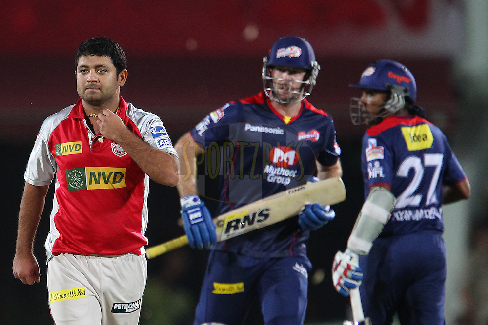 Piyush Chawla walks back during match 67 of the Pepsi Indian Premier League between The Kings XI Punjab and the Delhi Daredevils held at the HPCA Stadium in Dharamsala, Himachal Pradesh, India on the on the 16th May 2013..Photo by Ron Gaunt-IPL-SPORTZPICS ..Use of this image is subject to the terms and conditions as outlined by the BCCI. These terms can be found by following this link:..http://www.sportzpics.co.za/image/I0000SoRagM2cIEc