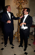The Marquess of Blandford and Will Turner, Ball at Blenheim Palace in aid of the Red Cross, Woodstock, 26 June 2004. SUPPLIED FOR ONE-TIME USE ONLY-DO NOT ARCHIVE. © Copyright Photograph by Dafydd Jones 66 Stockwell Park Rd. London SW9 0DA Tel 020 7733 0108 www.dafjones.com